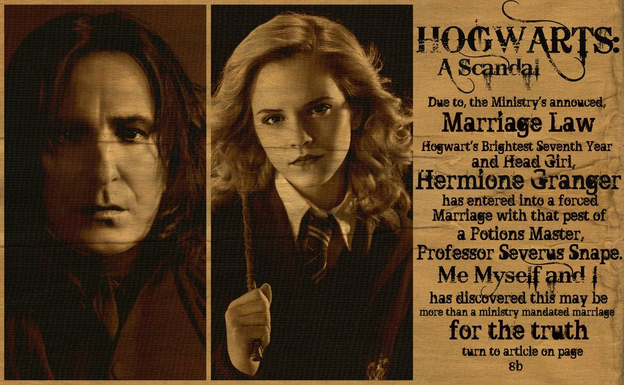 The Marriage Law by MaggiesWorlds | Hermione and Severus