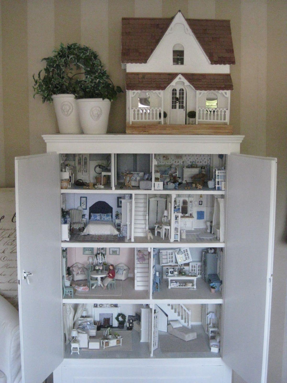 The dollhouse cabinet - miniatyrmama   Miniature Rooms & Displays ...