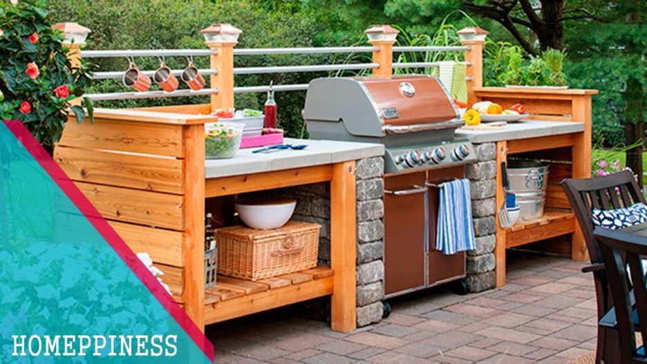 Kitchen Bbq Island Lowes How To Build A Grill Surround Using Wall Block Cinder Block Outdoor Gr Build Outdoor Kitchen Outdoor Kitchen Decor Diy Outdoor Kitchen