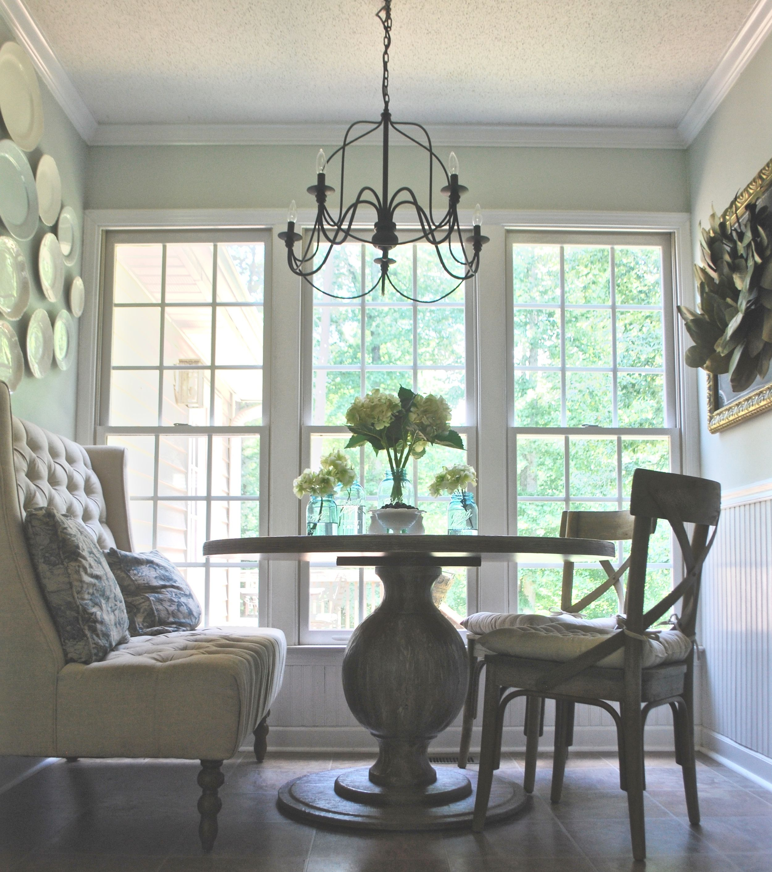French Farmhouse Dining Table French Farmhouse Breakfast Nook Makeover French French