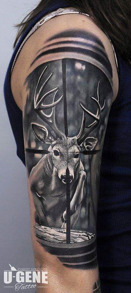 Hunting Tattoos : hunting, tattoos, Sorry, Info..., Hunting, Tattoos,, Antler, Tattoos