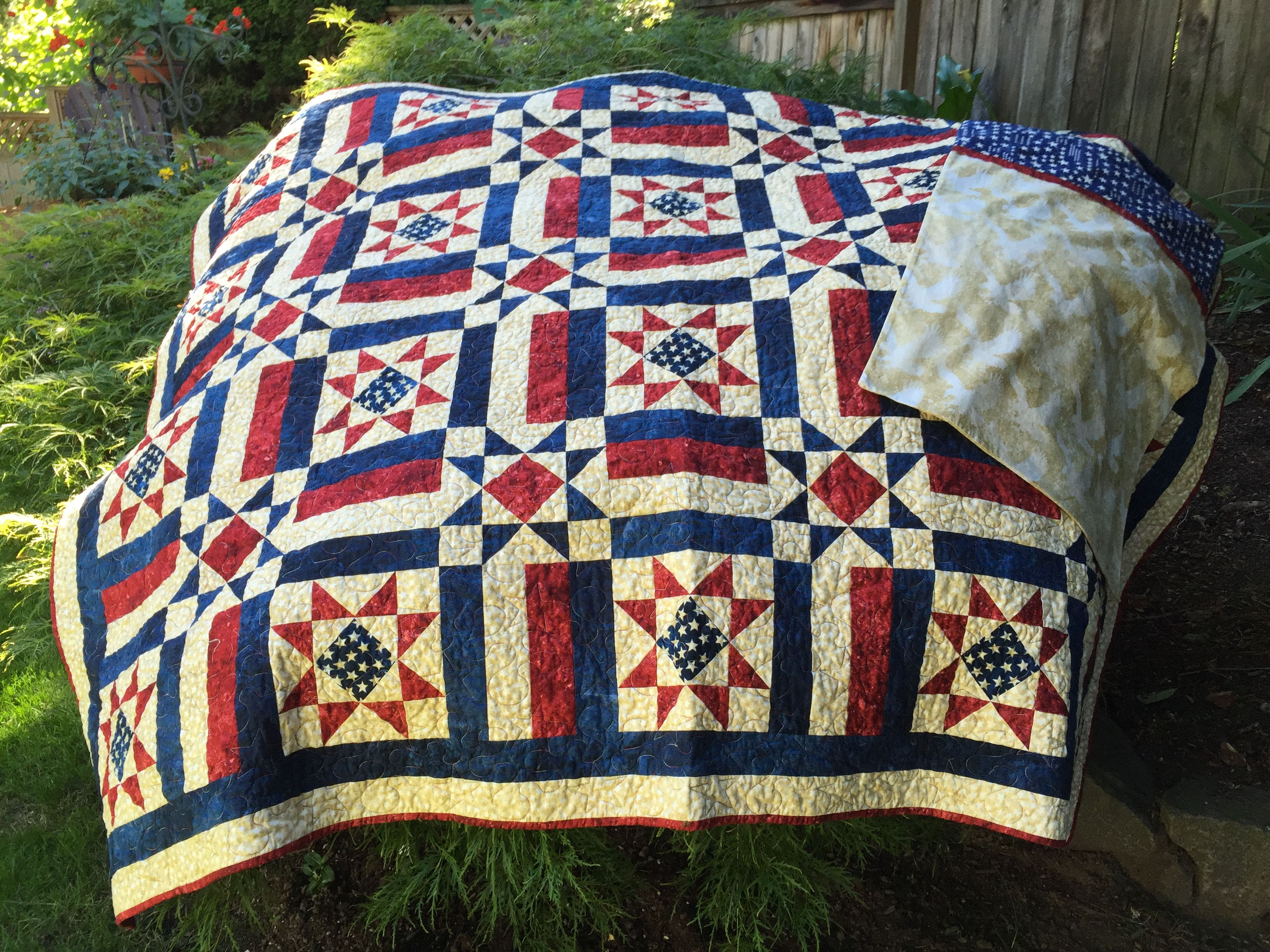My 4th Project This Quilt Of Valor Pattern Is Allegiance By Fons