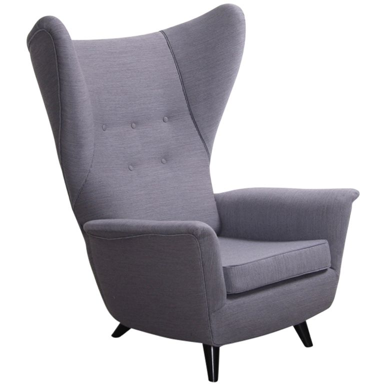 Unique Lounge Chairs italian lounge wing back arm chair in the manner of gio ponti