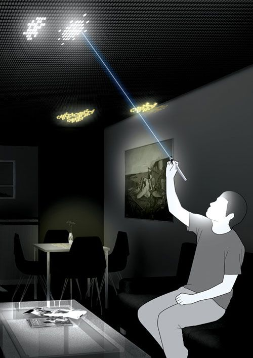 Led Ceiling This Is An Interesting Concept Created By Seo Dong Hun That Allows You To Create On The Light Shapes Want