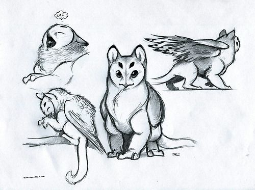 Pin By Oka Kuon On Fantasy Creature Drawings Animal Drawings Fantasy Creatures