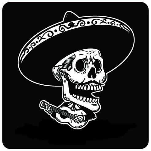 Skull Mariachi Mis Nopales Art Jose Pulido Skull Art Mexican Art Mexico Tattoo