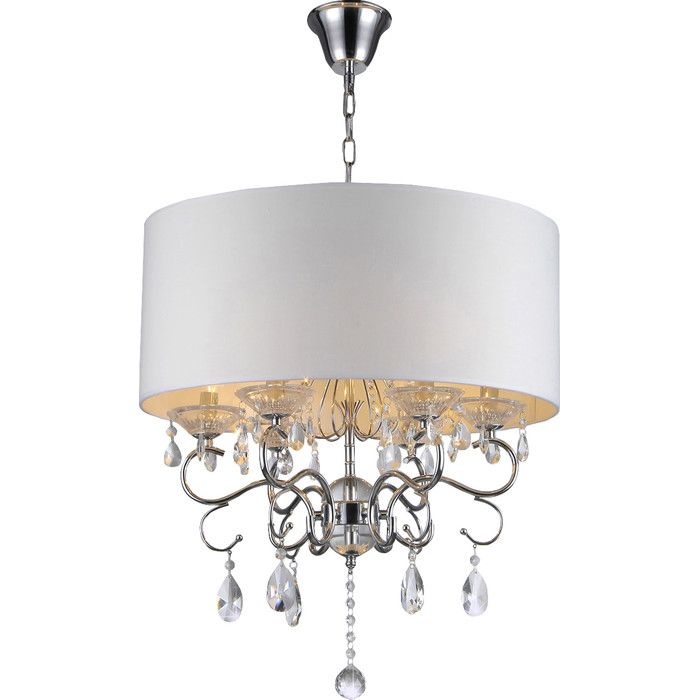 Youll love the hemera 4 light crystal chandelier at wayfair great deals on