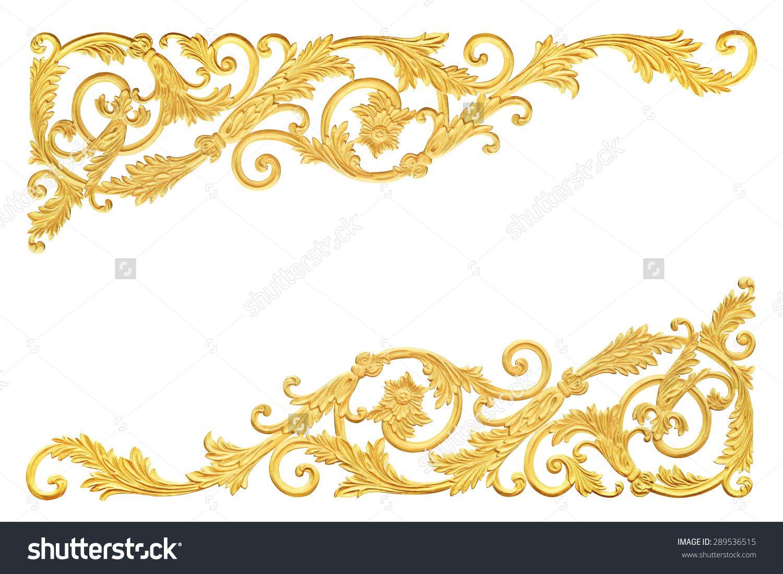 Old antique gold frame stucco walls greek culture roman vintage old antique gold frame stucco walls greek culture roman vintage style pattern line design for border jeuxipadfo Gallery