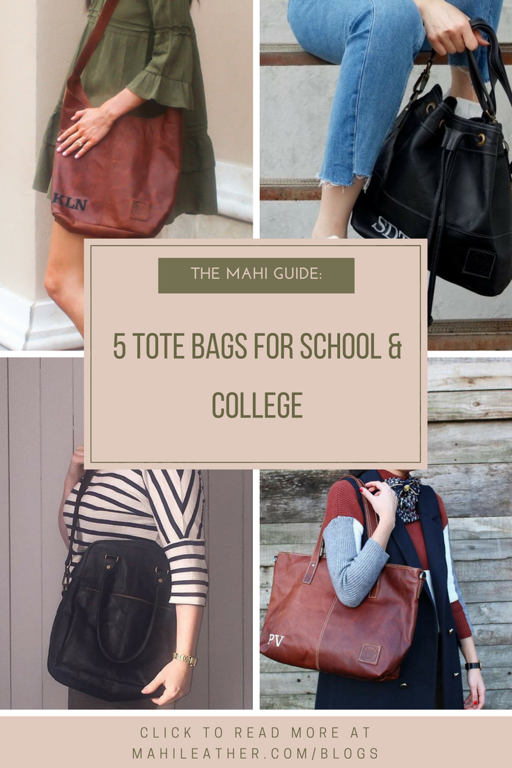 5 Tote Bags For School College Back To