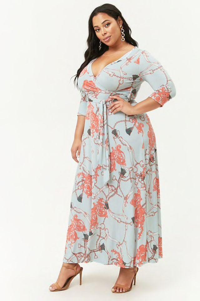Plus Size Flowy Surplice Maxi Dress | Dresses for evenings