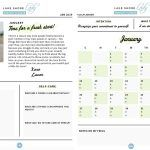 Lake Shore Lady's 2019 Workout and Wellness Planner #workoutcalendar #printable #ebook #workouts #wo...