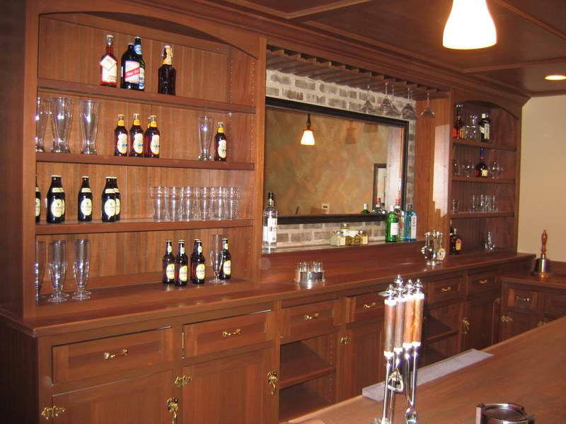 setting up a home bar with wall bricks | Home Improvement ...