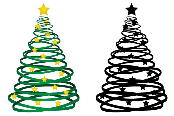 Free Ribbon Christmas Tree Vector Cool Christmas Trees Christmas Tree Ornaments Wallpaper Christmas Tree Clipart