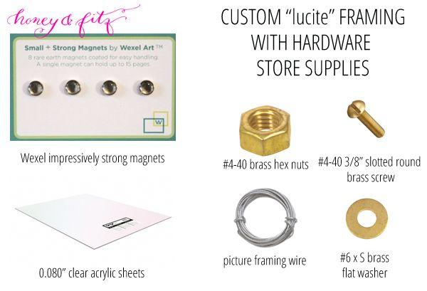 Honey and Fitz Custom Lucite Framing Supplies | DIY ideas ...