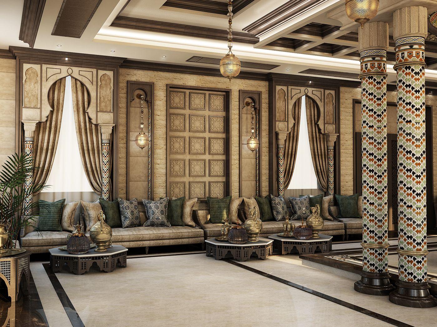 الرجال سيصدره شرقية المجالس السعودية على Behance Luxury House Interior Design Interior Design Bedroom Small Lounge Interiors