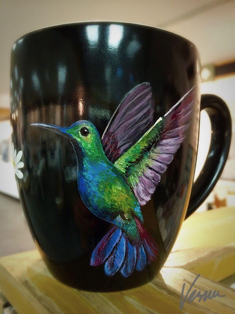 Hummingbird - Personalized Hand Painted Coffee Mug - Dishwasher & Microwave Safe -  https://www.etsy.com/listing/260509320/humming-bird