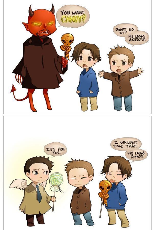 Image 534270 Supernatural Supernatural Cartoon Supernatural Funny Supernatural Drawings