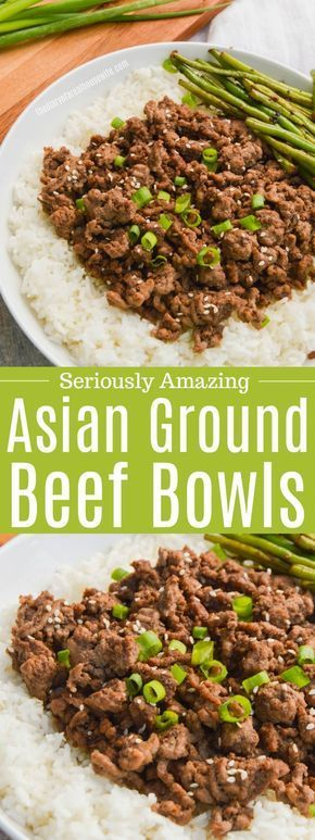 Asian Ground Beef #groundbeefrecipesfordinner AMAZING Asian Ground Beef, it's so simple and a must try. #groundbeef #dinner #easyrecipe #groundbeefrecipes