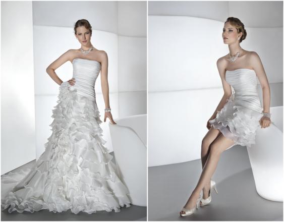 10 Brautkleider, 20 Looks: Die schönsten 2-in-1 Brautkleider 2013