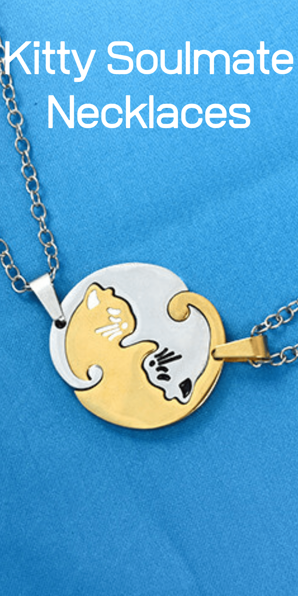 Give your girlfriend the perfect gift two embracing kitties on a necklace! Cute cat jewelry.
