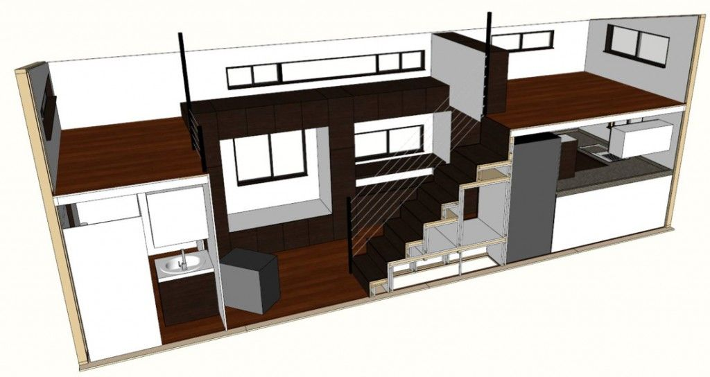 tiny house plans home architectural plans - Tiny House Floor Plans