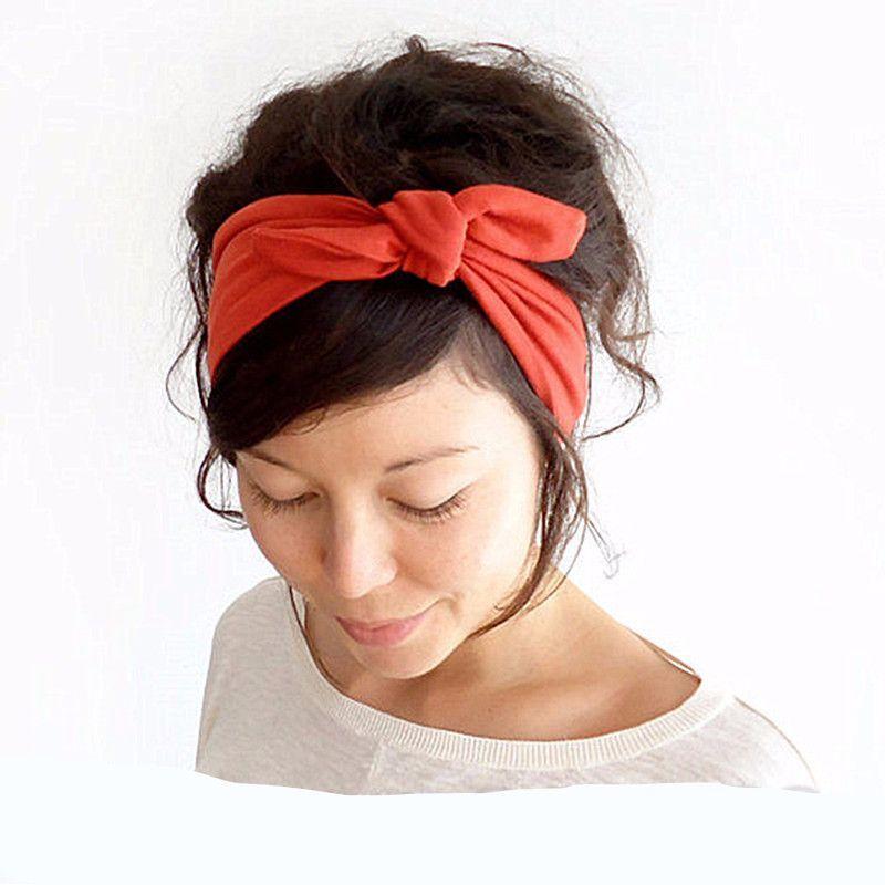 gold metallic bandana pin-up headband head scarf hair wrap rockabilly dolly bow