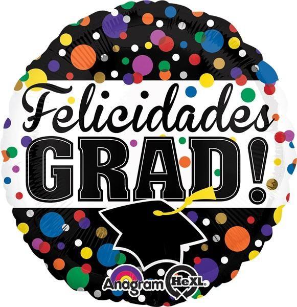 """Felicidades Grad 18"""" Globo Met Graduacion, COD: 3027702, UPC Code: 3027702, Venta En Linea, Mayoreo Globos, Metálicos/Mylar/Metalizados, 18-22"""", México. Teleglobos.com"""