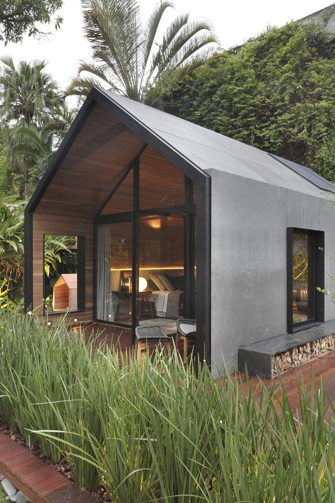 Une cabane design et écoresponsable de 40m2 au Brésil (et sa petite soeur)