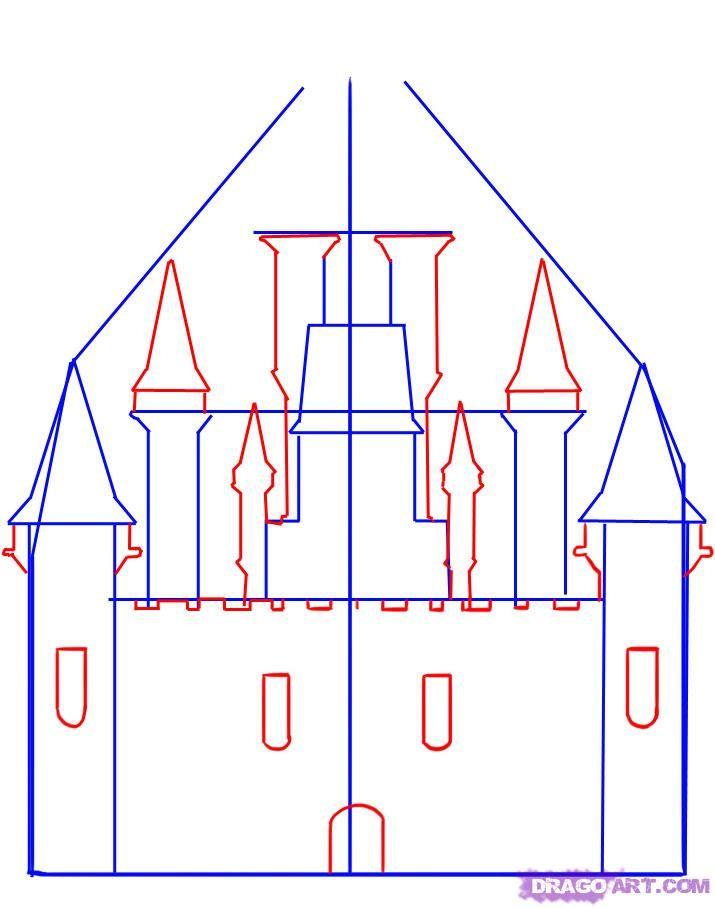 нарисовать замок поэтапно картинки медхэлпе