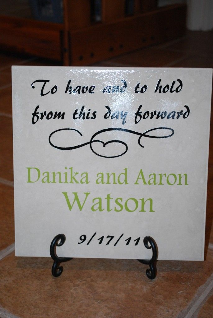 Great Idea Using Cricut Vinyl To Make For Wedding Gifts Cricut