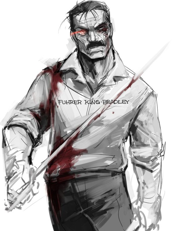 This Is Really Cool Art Of Fuhrer King Bradley Aka Wrath But Gosh I Hate Him Find Pin And More On Fullmetal Alchemist Brotherhood