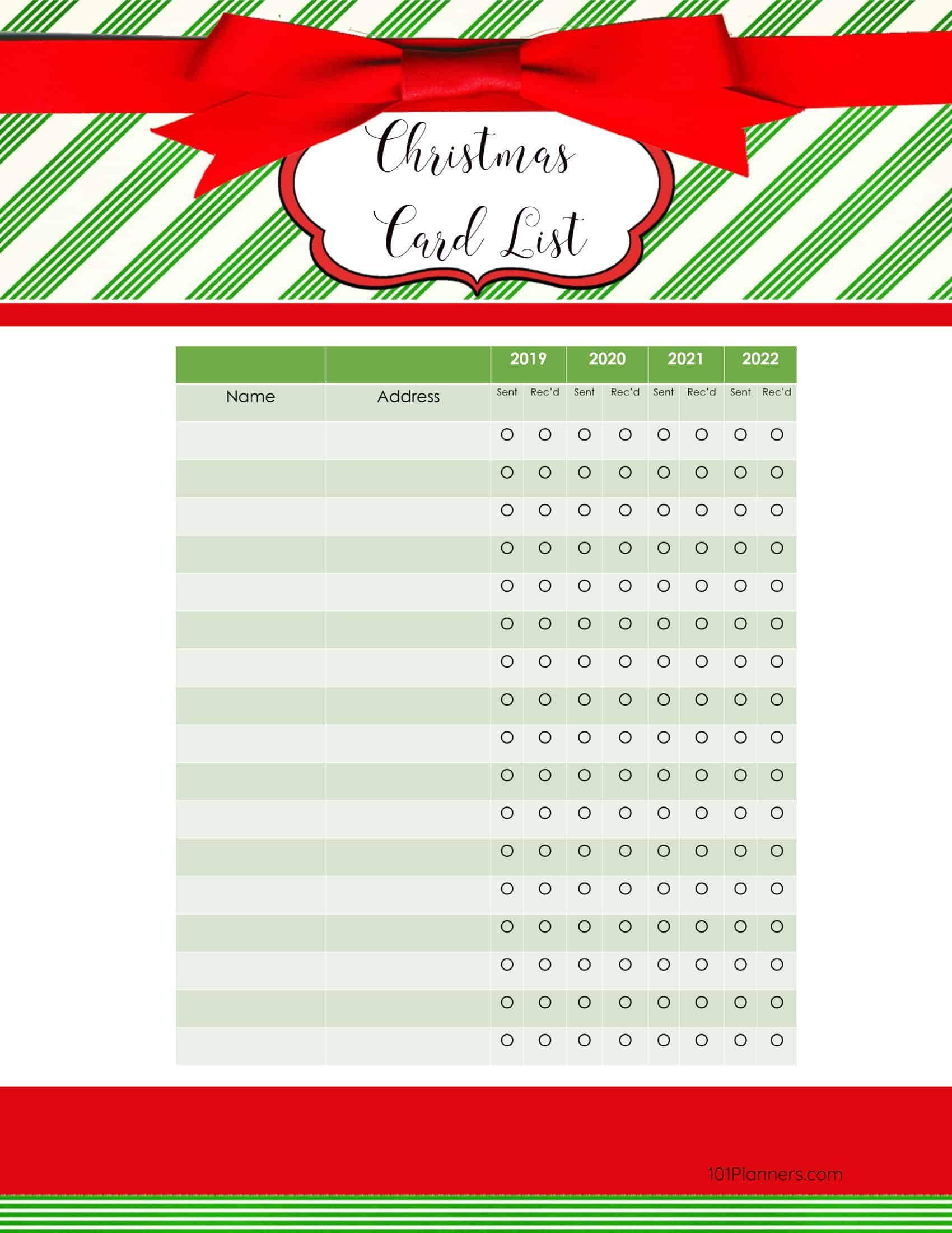Templates For Christmas Cards Elegant Free Printable Christmas Gift List Template Free Christmas Printables Christmas List Template Christmas Note Cards