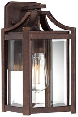 Modern 12 1/2-Inch-H Franklin Iron Works Outdoor Wall Light | Lighting,  Style and Lights