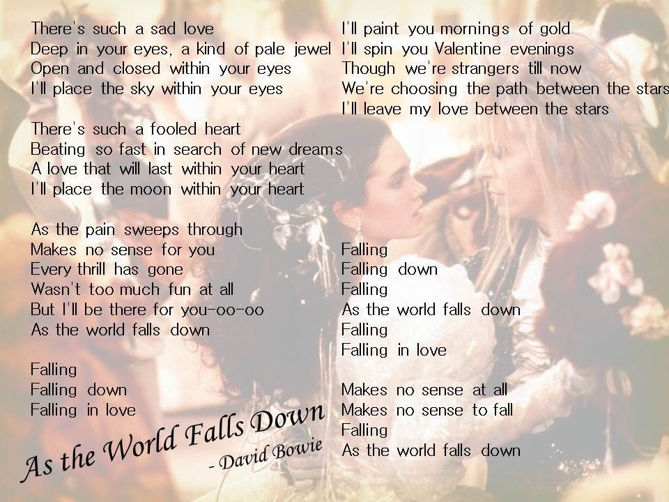 As the World Falls Down - David Bowie - Labyrinth
