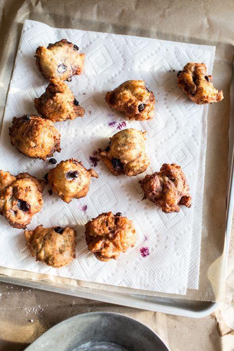 Wild Blueberry and Coconut Ricotta Doughnuts