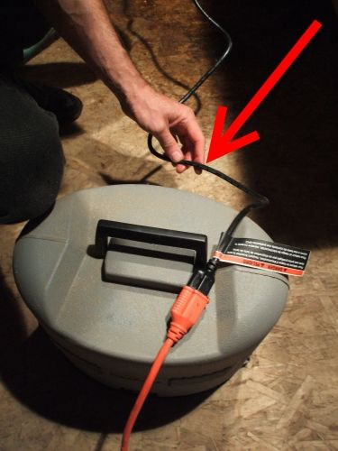 """4 - Make a """"drip loop"""" by putting one part of the cord lower than the outlet.  This way, water does not drip into the outlet, shocking you."""