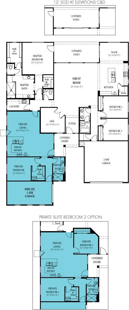 6081 Revelation Next Gen 3 173 Sq Ft With 4 Bedrooms And 3 Bathrooms How To Make My Bed Wider Multigenerational House Plans New House Plans House Plans