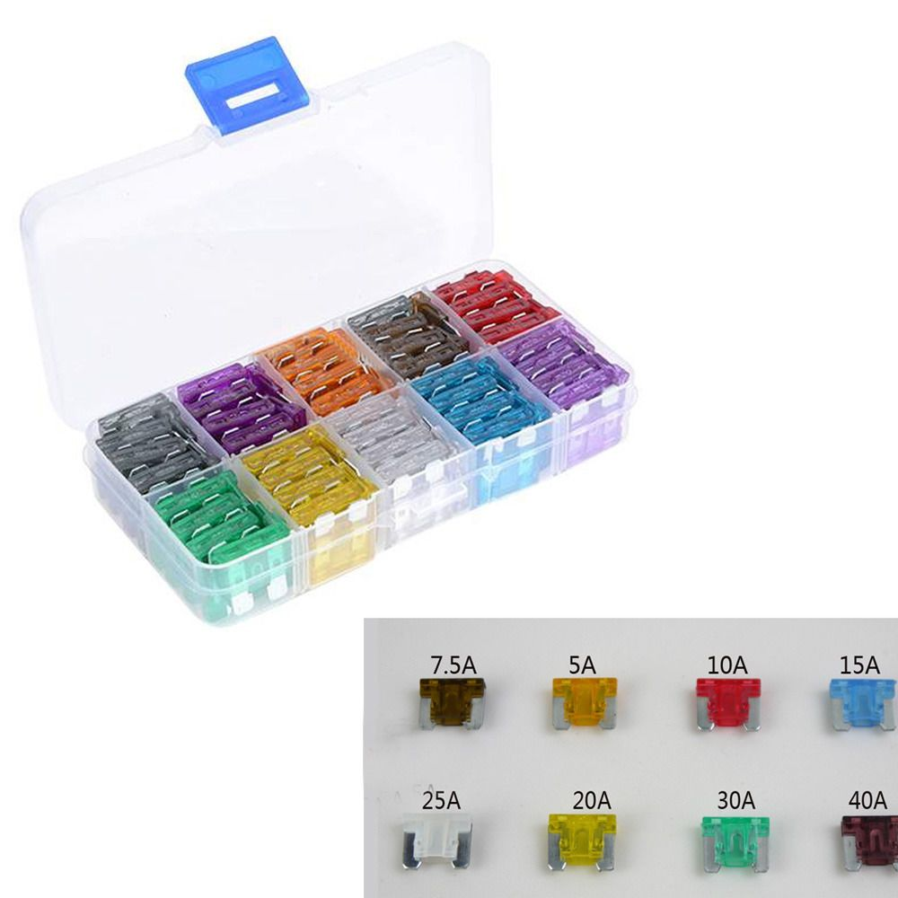 100pcs Assorted Car Truck Low Profile Fuse Box 5 75 10 15 20 25 30 Toyota Corolla Ebay Automotive Fuses Electronics