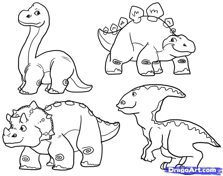 Dinosaur Background Coloring Pages Pictures