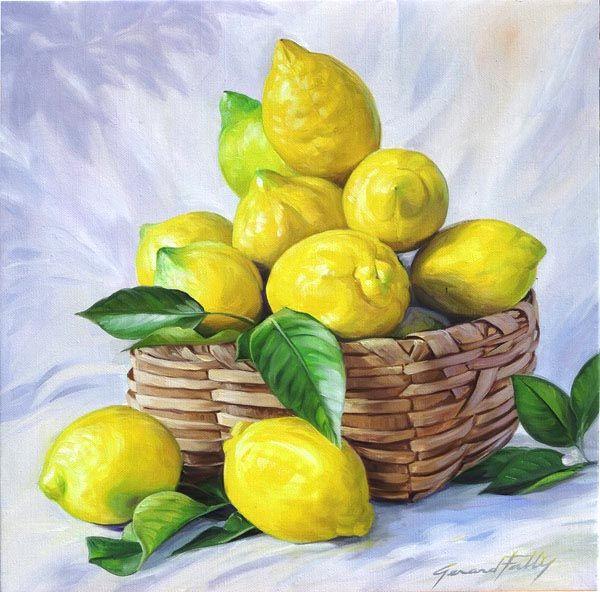 Nature Morte De Fruits Peinture à Lhuile Sur Toile Composition En