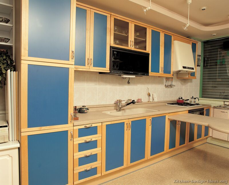 Blue Kitchen Cabinets  Modern Blue Kitchen Cabinets  Pictures Adorable Kitchen Cabinet Designs And Colors Inspiration