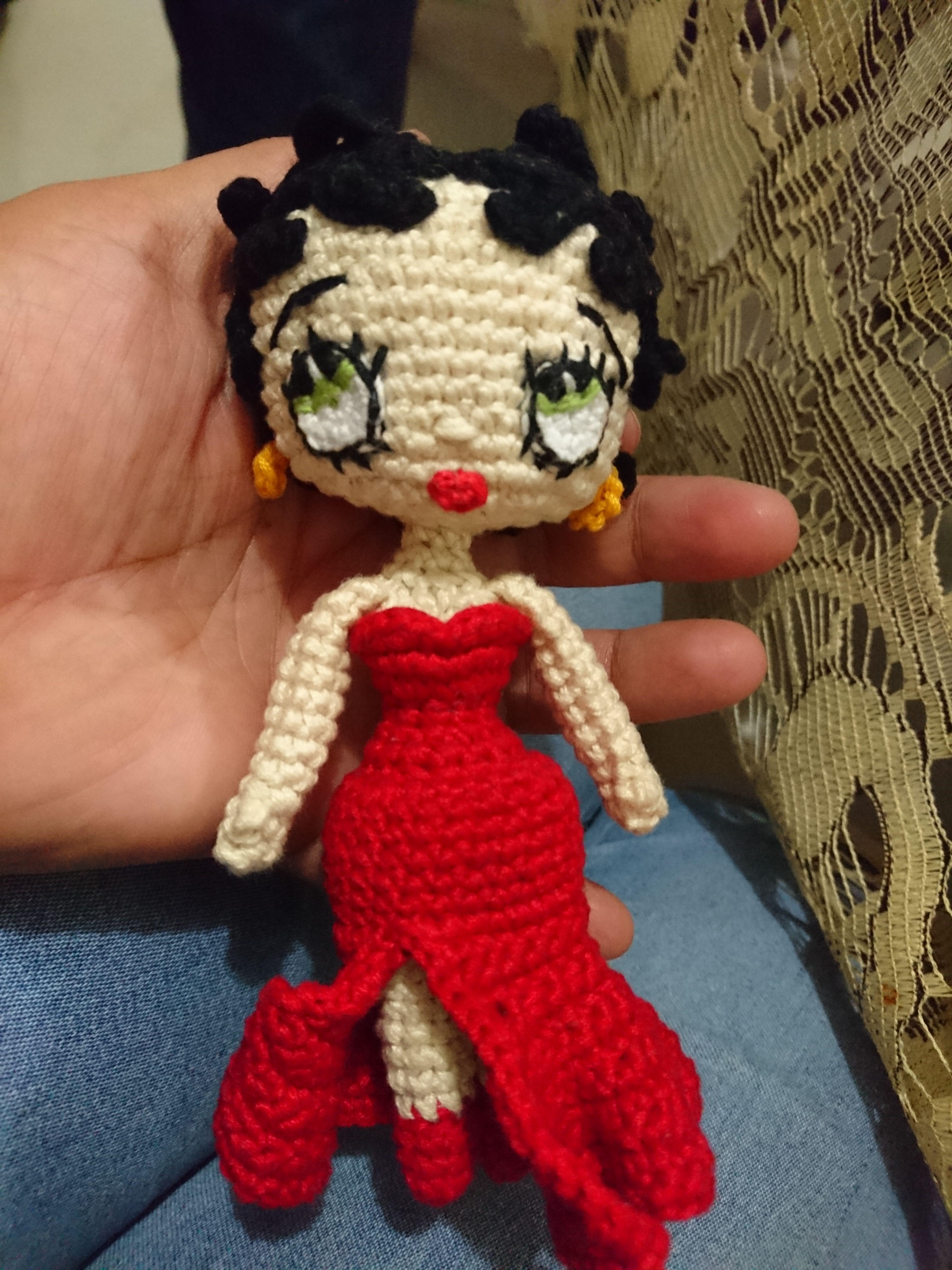 Tejido Amigurumi Tutorial : Mi version de betty boop amigurumi #bettyboop #amigurumi #crochet
