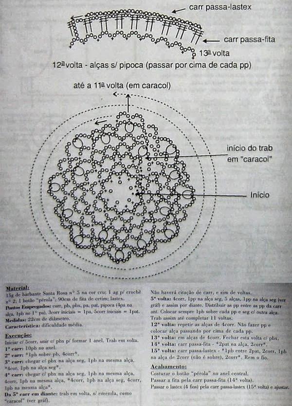Patrones Crochet: Redecilla de Pelo en Crochet Patron | crochet ...