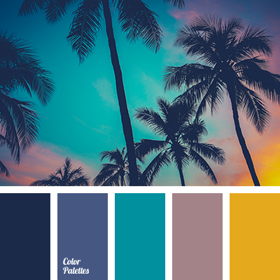 ash-pink, beach sunset color, celadon and juicy yellow, dark-blue ...