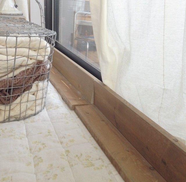 窓からの冷気をシャットアウト インテリアを損ねない隙間風対策 木材