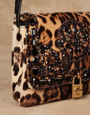2db84c4a3e84 Dolce   Gabbana Medium Leopard-Print Pony Dolce Hobo Bag