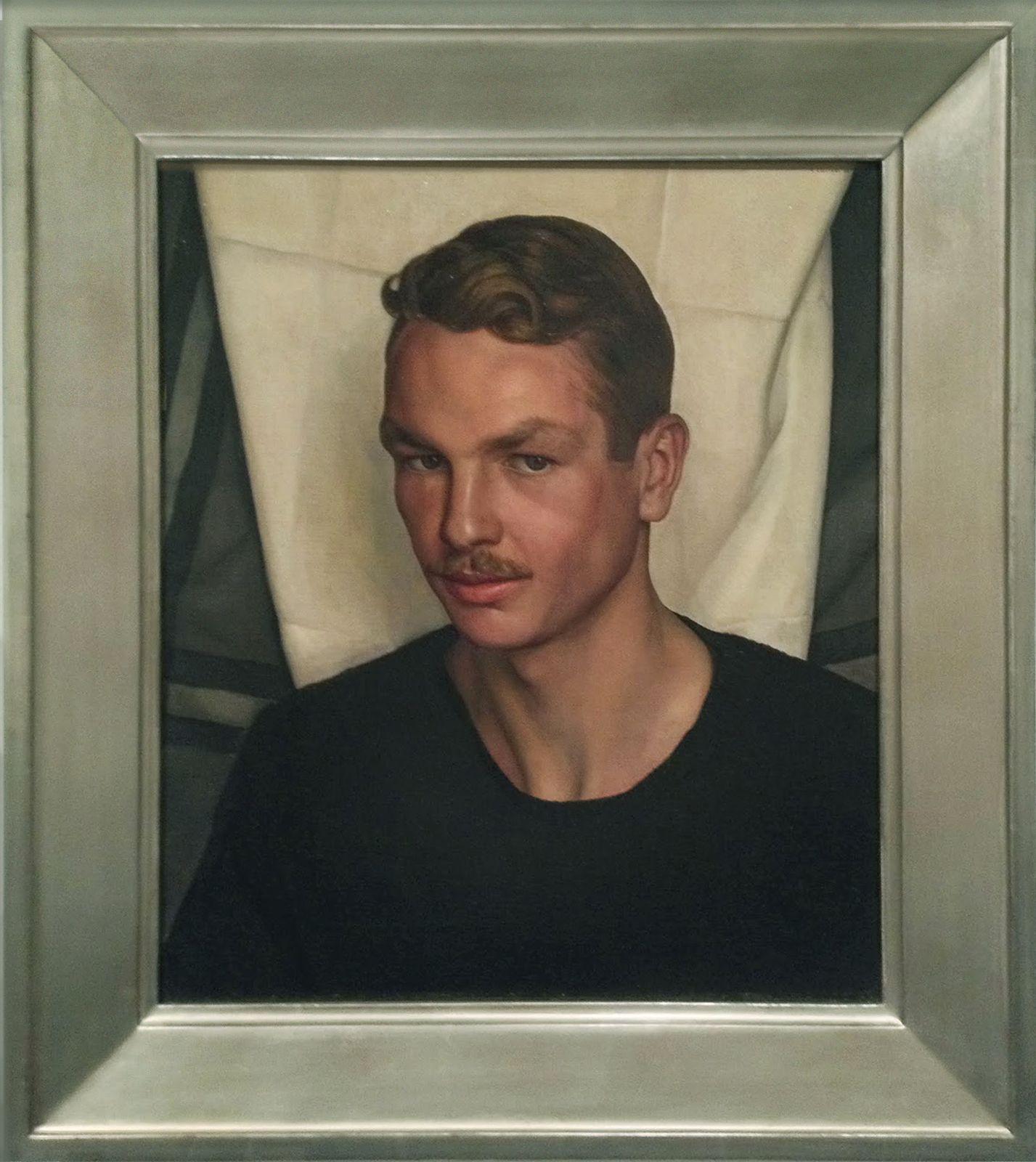 Luigi Lucioni Portrait Of Jared French Portrait Paul Cadmus Contemporary Portrait