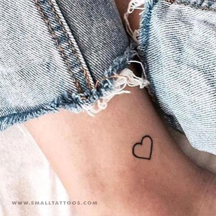 d79622917 Small Heart Outline Temporary Tattoo (Set of 3) | Heart Temporary ...