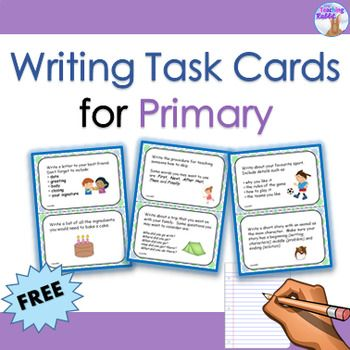 Writing Task Cards back to school Pinterest Task cards