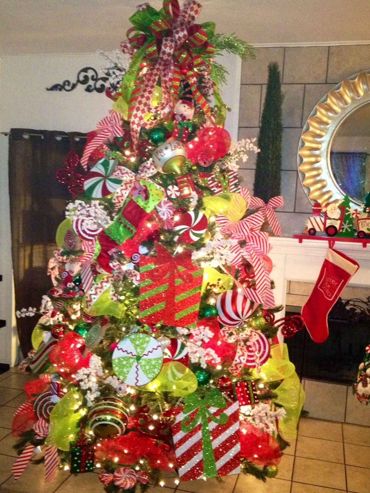 Candy Filled Christmas Tree Love My Job